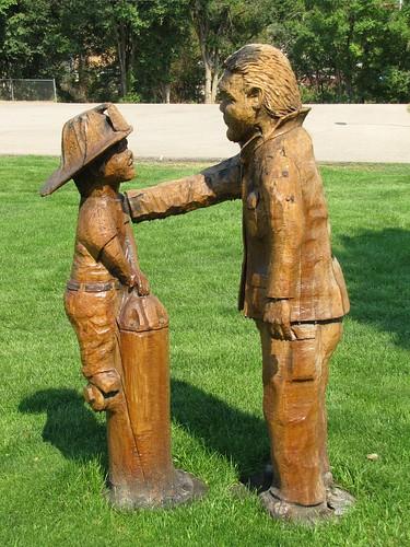 park statue wooden colorado carving treetrunk craig smalltown