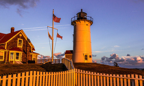 sunset gold capecod massachusetts falmouth seinfeld nobskalight kennybania