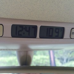 I'd say today is a hot one. 109 degrees in my car.