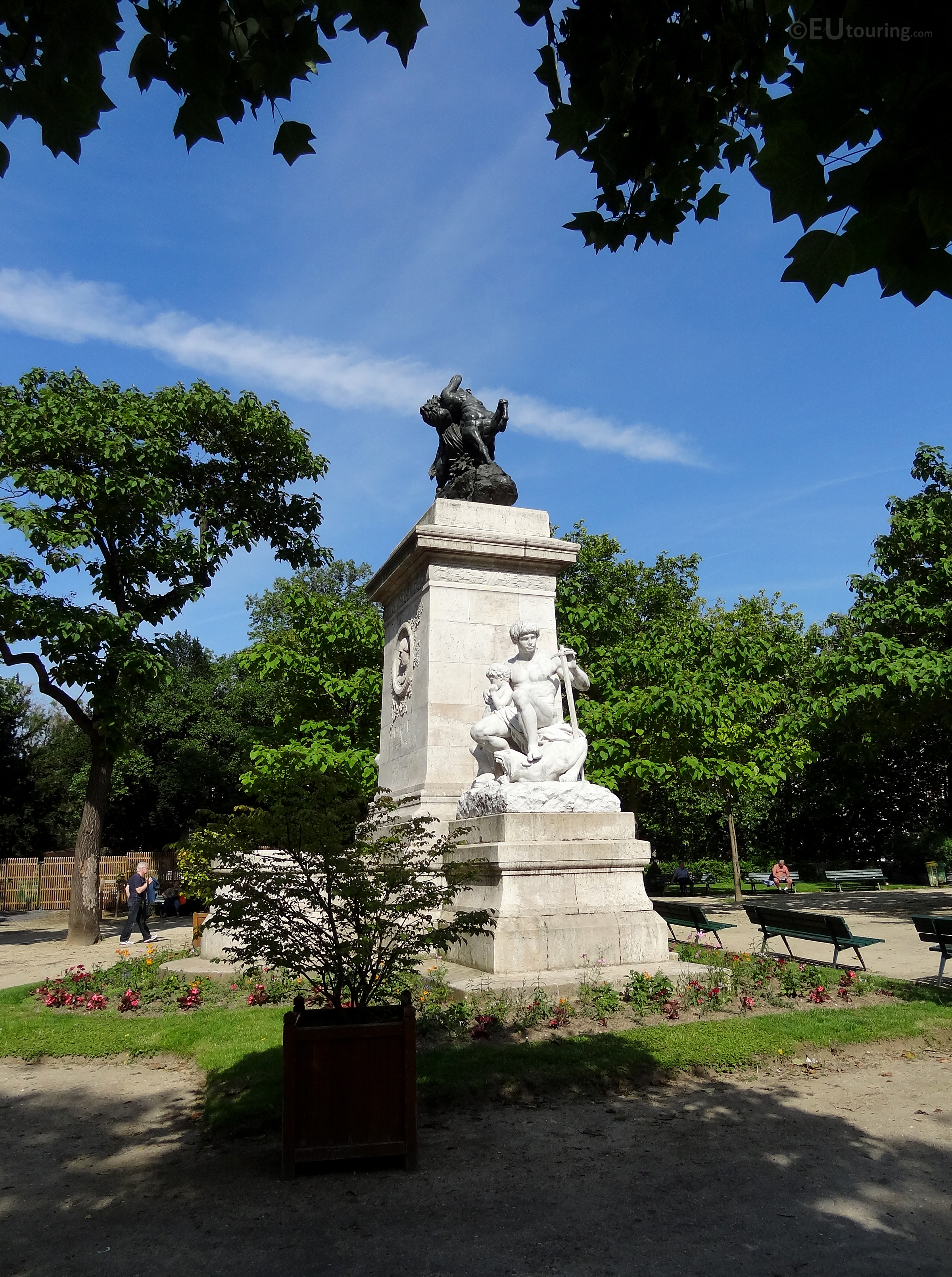 Monument within Square Barye