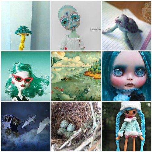Friday Funspiration: blueish green: greenish blue