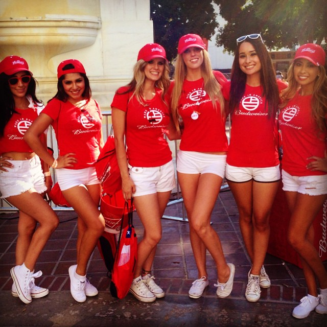 Just A Few Of The 20 Budweiser Girls I Worked With Today Flickr