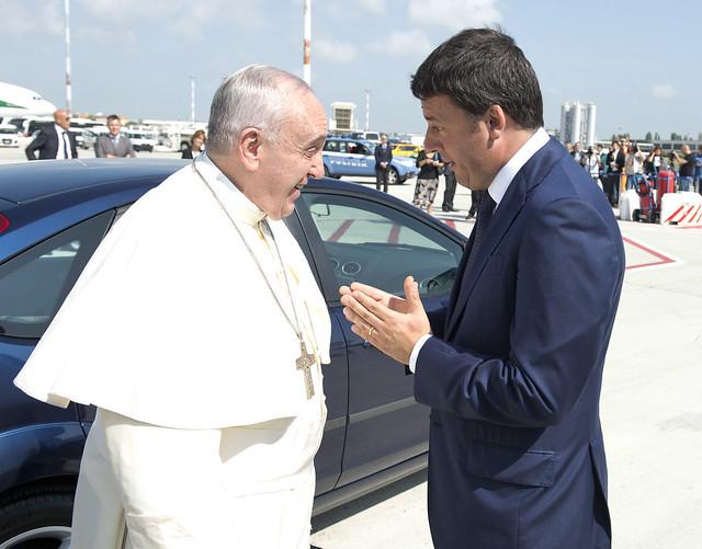Renzi ha incontrato Draghi, Papa Francesco e Napolitano