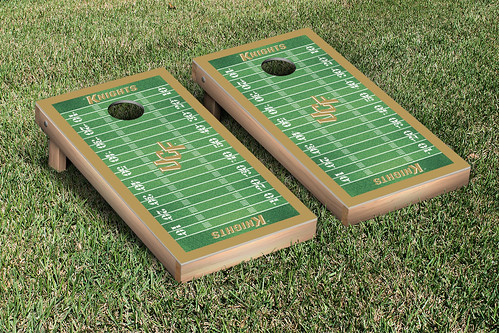 University of Central Florida UCF Knights Cornhole Game Set Football Field Version