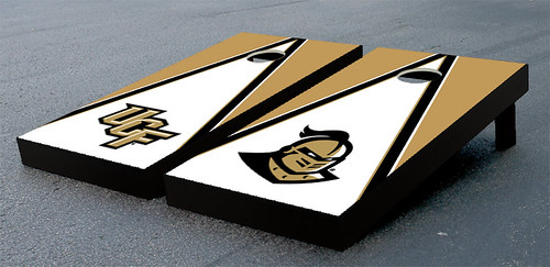 University of Central Florida UCF Knights Cornhole Game Set Triangle Wooden