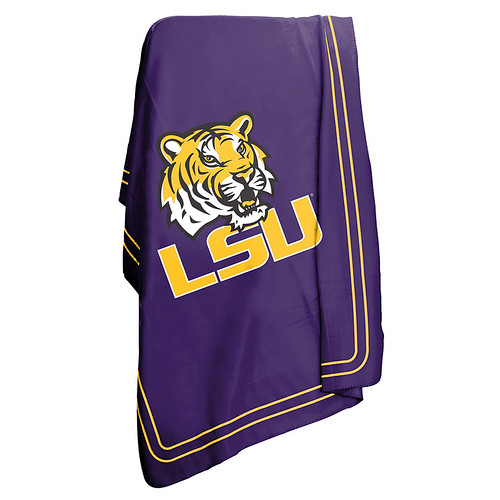LSU Tigers NCAA Classic Fleece Throw