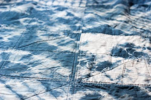 Lei's Indigo Patchwork Quilt