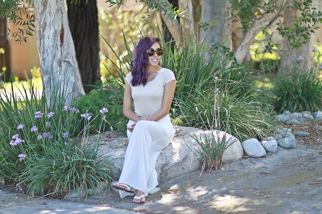 lucky magazine contributor,fashion blogger,lovefashionlivelife,joann doan,style blogger,stylist,what i wore,my style,fashion diaries,outfit,trixxi clothing,trixxi girl,dresses,summer dress,white after labor day,labor day,labor day weekend,purple hair,charlotte russe
