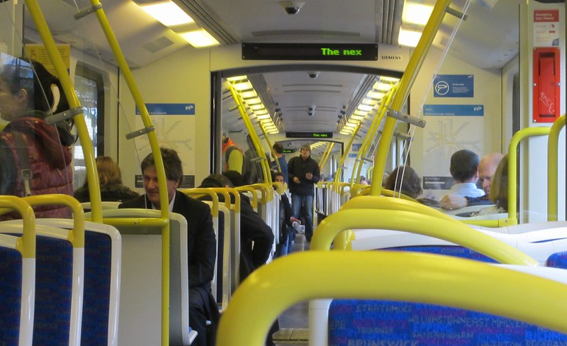 Siemens train, interior