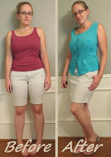 Khaki Skirt - Before & After