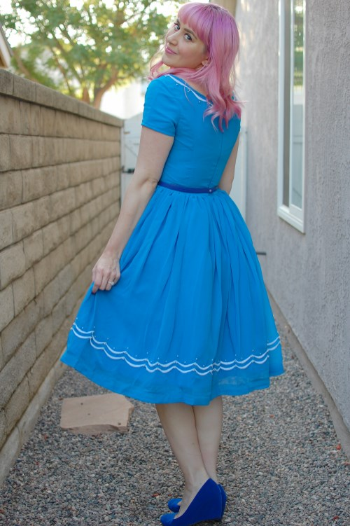 Modcloth Geode Blue Ribbon Baker dress 013