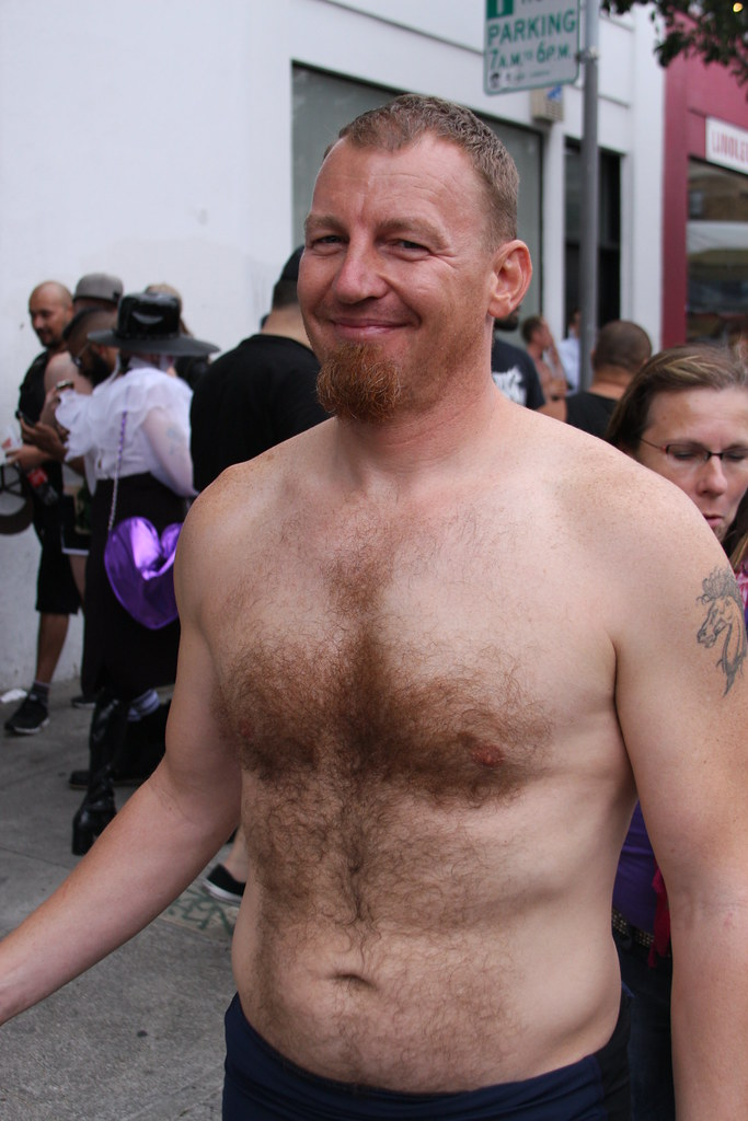 FOLSOM STREET FAIR 2014 - RED HOT GINGER SEXY (SAFE PHOTO)
