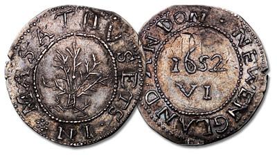 1652 Oak Tree Sixpence. Noe-15