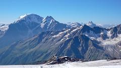 Szczyt Czeget, schronisko Garabashi z podejścia na Elbrus