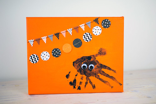 Spider Handprint Halloween Craft