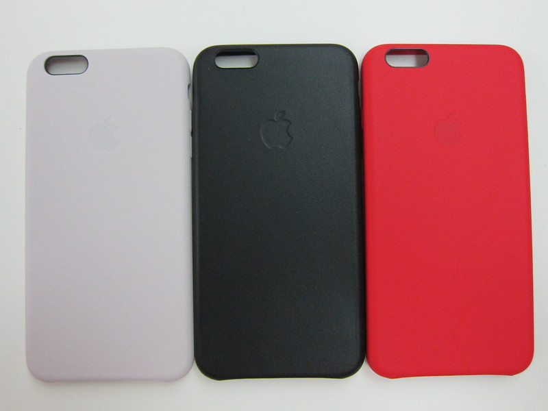Apple iPhone 6 Plus Leather Case - Soft Pink, Black & Red