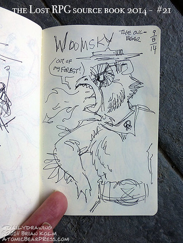 09-08-2014 #dailydrawing #lostRPG Woomsky, the environment owl-bear
