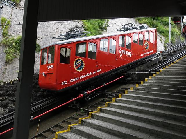 Pilatusbahnstasjonen i Alpnachstad