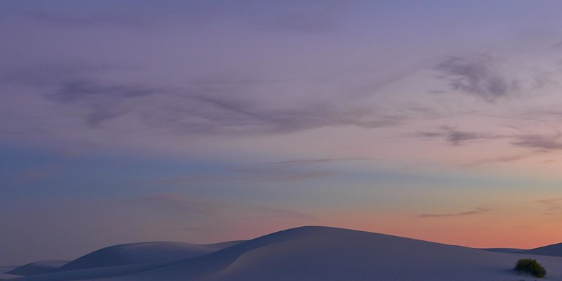 The shape of the dunes - White Sands National Monument