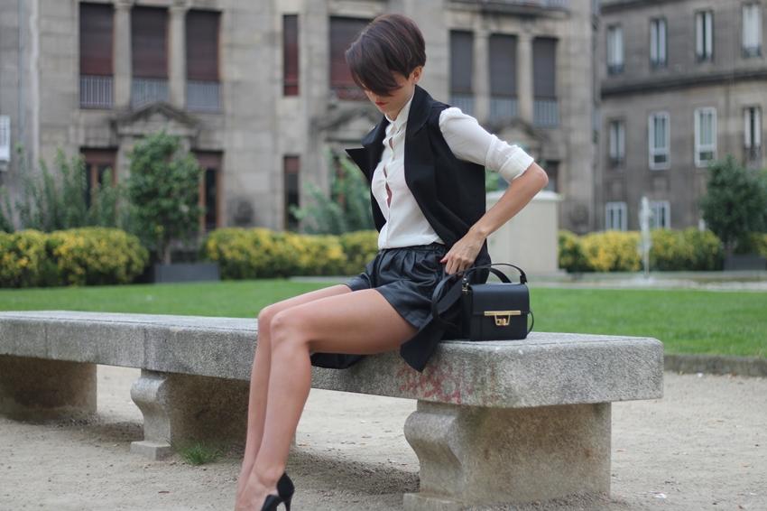 chaleco negro sheinside