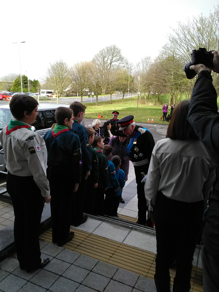Lord Shuttleworth meets the 16th Morecambe and Heysham Scouts