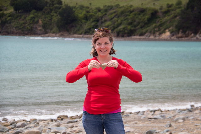 heart rock @ Cable Bay