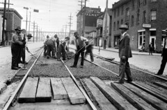 Street work at 7th & Dearborn, 1927