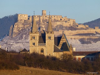 Spisska Kapitula (Vatican of Slovakia) with Spis castle in the background