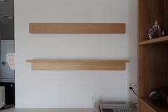 無印良品の壁に取りつけられる家具。