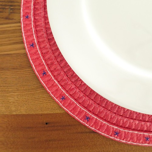 Iron Craft '14 Challenge #11 - Embroidered Placemats