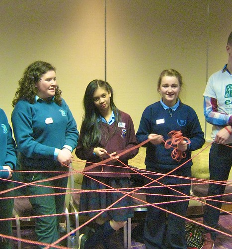 Students from St Louis schools in Monaghan, Carrickmacross, Rathmines and Ramsgrange participating in Eco-Unesco Workshop at the 2014 St Louis schools Network day