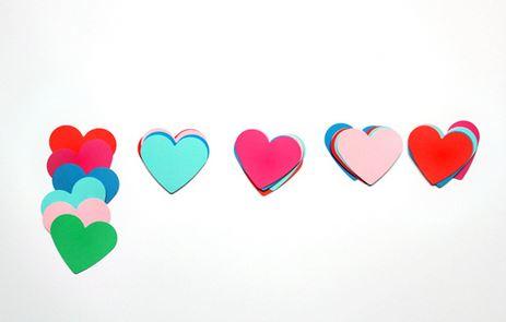 decoracion corazones colgantes 3