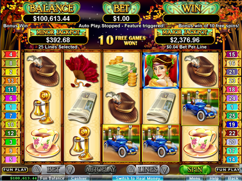 free Glitz & Glamour free spins feature