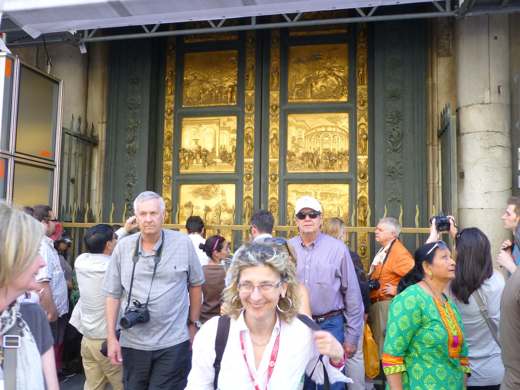 The bronze doors of the Baptistry (actually replicas)