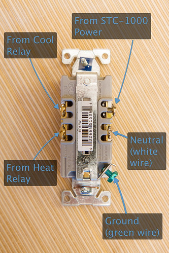 DIY Temperature Controller Connections to Electrical Outlet