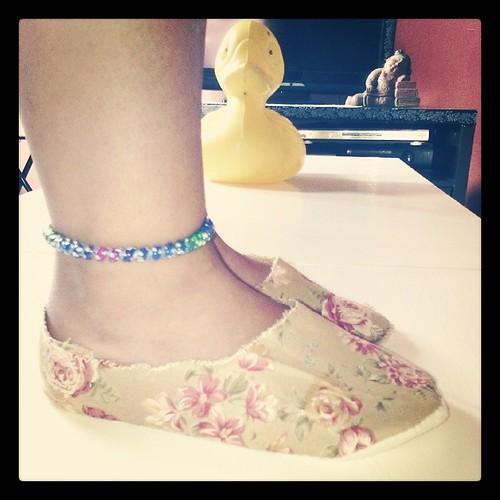 Et une paire de chaussons de faite pour nana #couture #vintage #ourlittlefamily #france