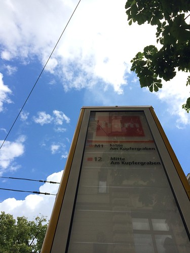 European Instagram meetup #EverchangingBerlin_Tram sign