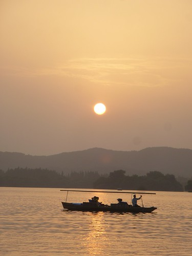 Zhejiang-Hangzhou-Lac Ouest-coucher du soleil 1 (10)