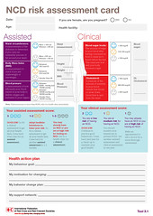 4HealthyHabits IFRC-IFPMA: NCD risk assessment card