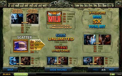 free Battle of the Gods slot mini symbol