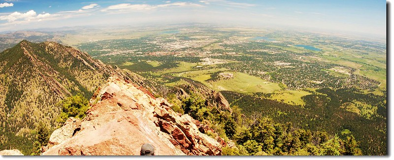 Overlooking Boulder from Bear Peak 2