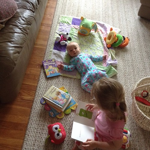 Around here we start them out early with a love of books! #100happydays ✨day 5