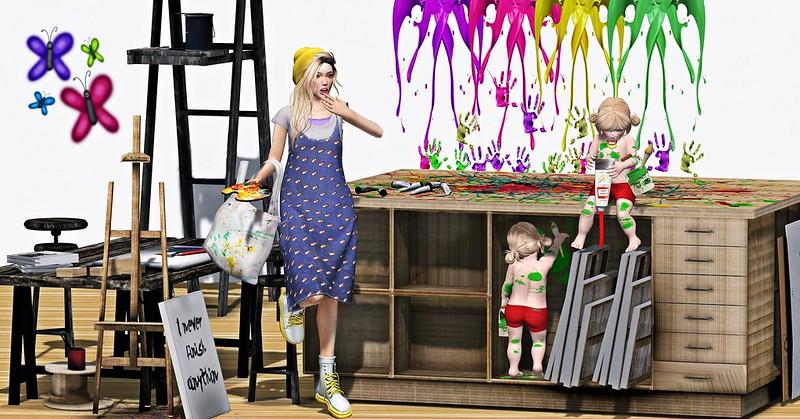 """Amelie et les petites: Episode """"Painting lesson"""""""