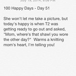 Day 51 - She Wore My Shawl