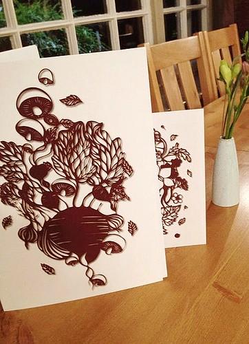 Cut-Paper-Menu-Illustrations
