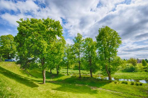 landscape latvia hdr bauska lettonie buaska