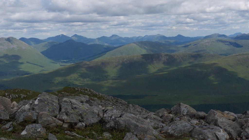 The Glen Lyon hills from Stob Ghabhar