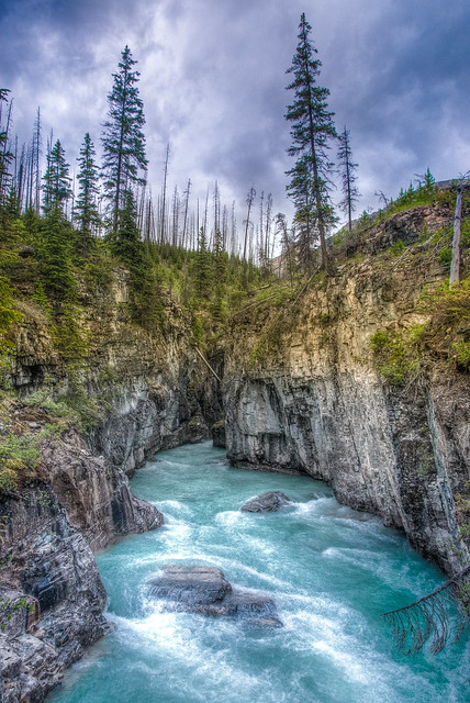 Water in the canyon, East Kootenay, British Columbia