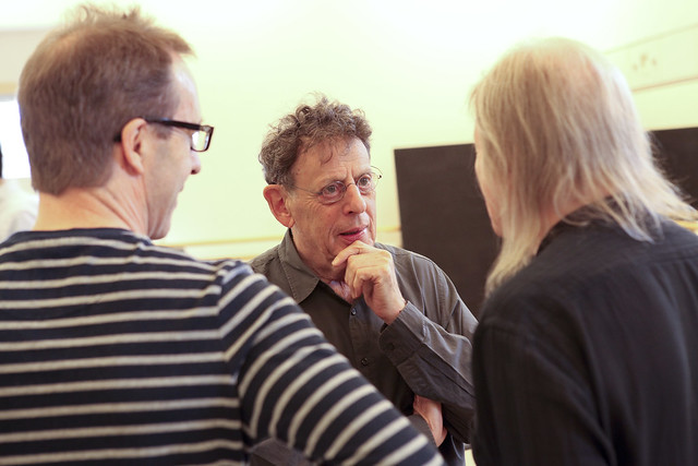 Philip Glass in rehearsals for The Trial © ROH / Photo by Ruairi Watson 2014