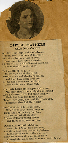 """Little Mothers,"" by Grace Noll Crowell"